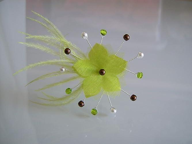 Fleur Tissu Plume Perles Coudre Coller Sur Robe De Mariee
