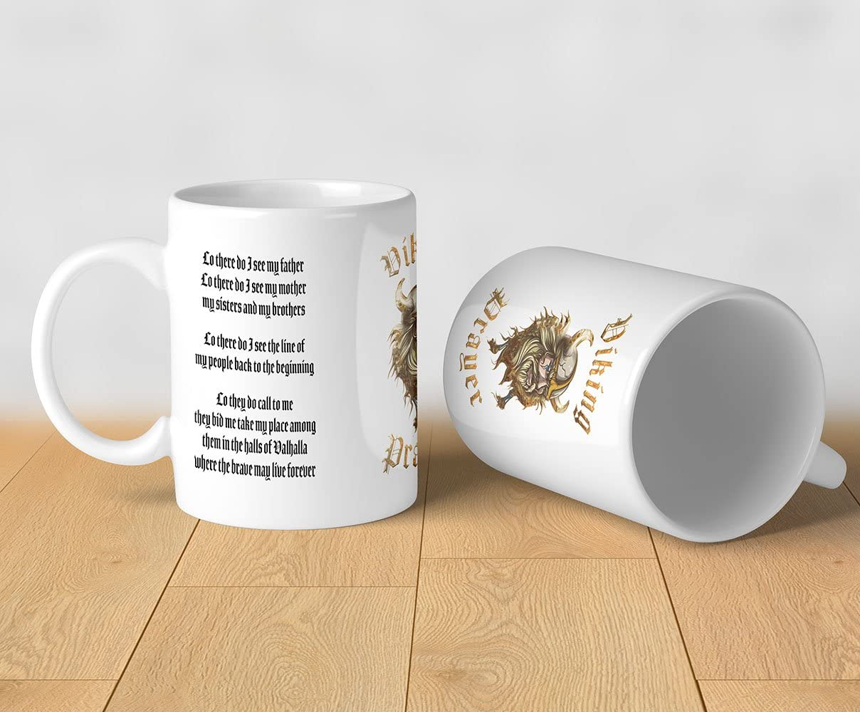 Viking Prayer Mug Lo There Do I See My Father Lo There Do I See My Mother My Sisters And My Brothers 11oz White Ceramic Tea Coffee Mug Amazon Ca Home