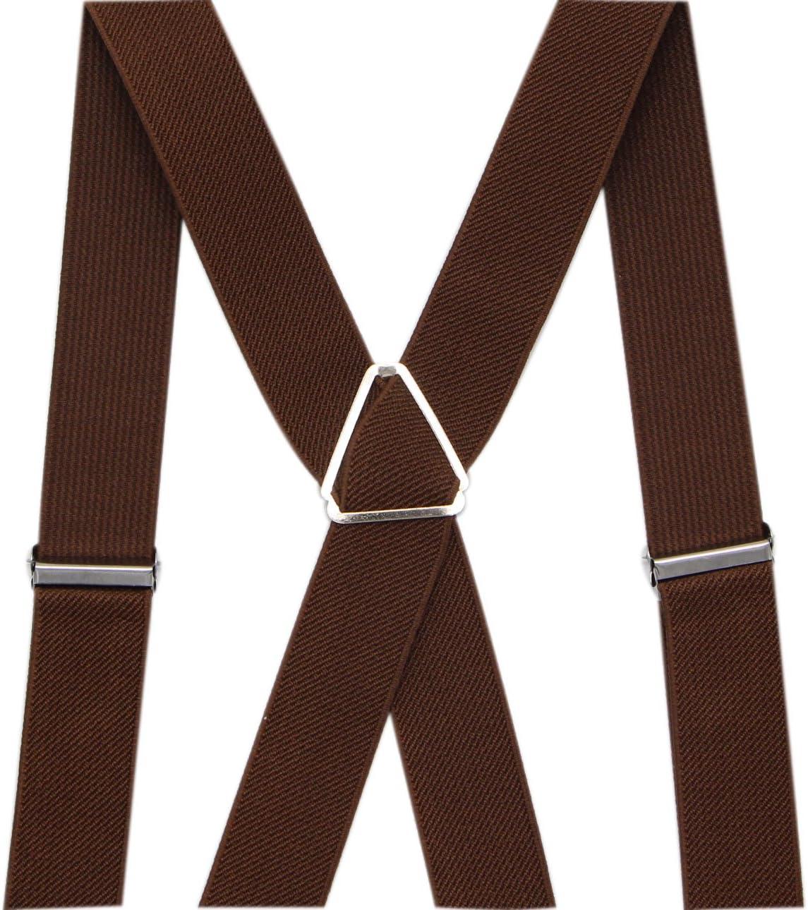 Perfect For Weddings /& Formal Events Orange JAIFEI Mens X Back Suspenders /& Bowtie Set