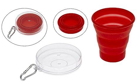 Bicchiere Pieghevole Decathlon.Cao Camping Bicchiere Pieghevole In Silicone Capacita 20 Cl Colore Rosso