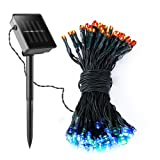 Solar String Light, Yokkao® 100 LED Lamp Outdoor Colorful Fairy Water-resistant for Holiday Christmas Party Garlands Garden Waterproof Lights