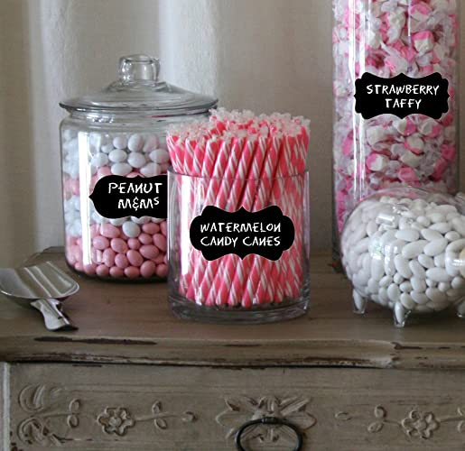 amazon com candy buffet label for jars chalkboard labels medium rh amazon com labels for candy buffet bags labels for candy buffet jars