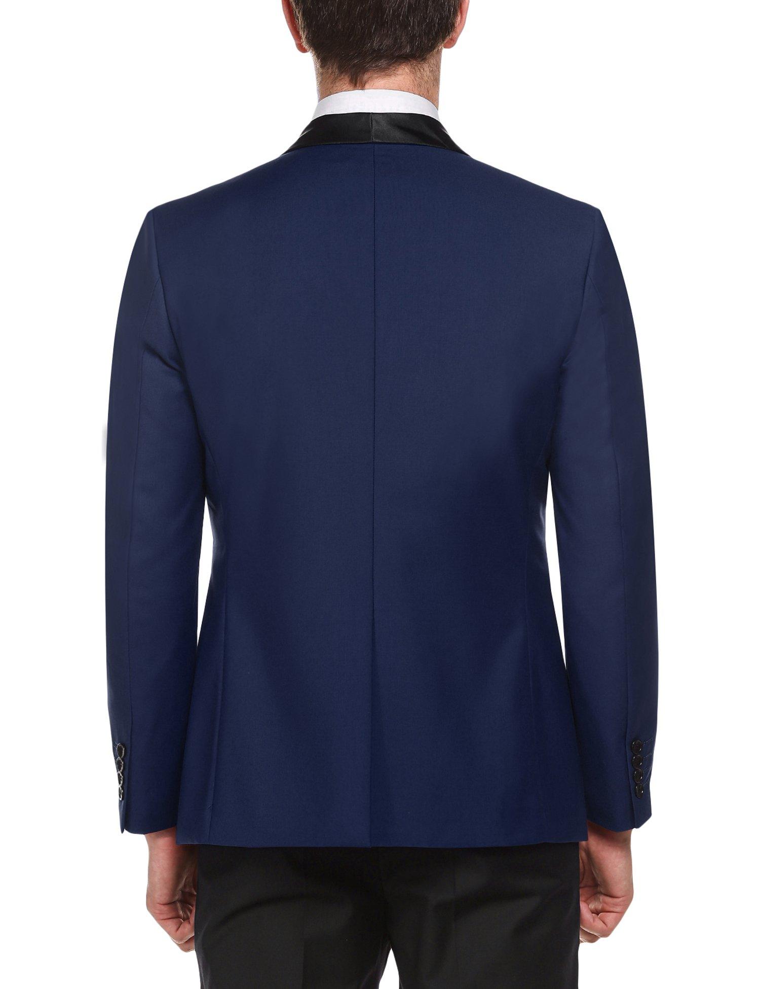 COOFANDY Men's Slim Fit Blazer Jacket Casual One Button Suit Coat by COOFANDY (Image #3)