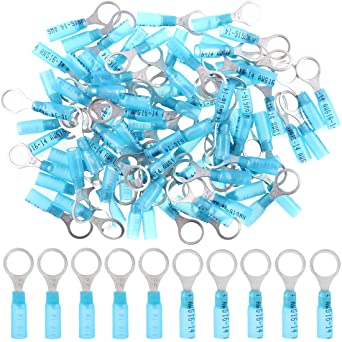 50pcs Nylon Insulated Wire Cable Connector 16-14AWG Electrical Crimp Terminals