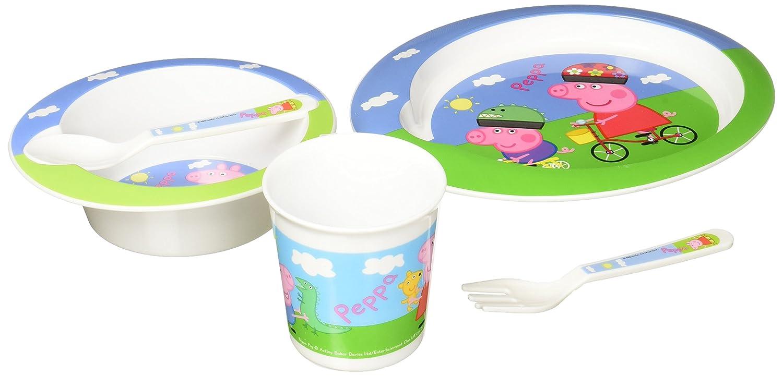Peppa Pig - Set Vajilla para microondas 5 piezas rosa 155586