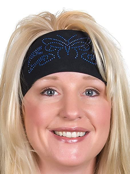 Open Road Girl Hair Bandana: Wide Headbands for Women: Biker Chick ...