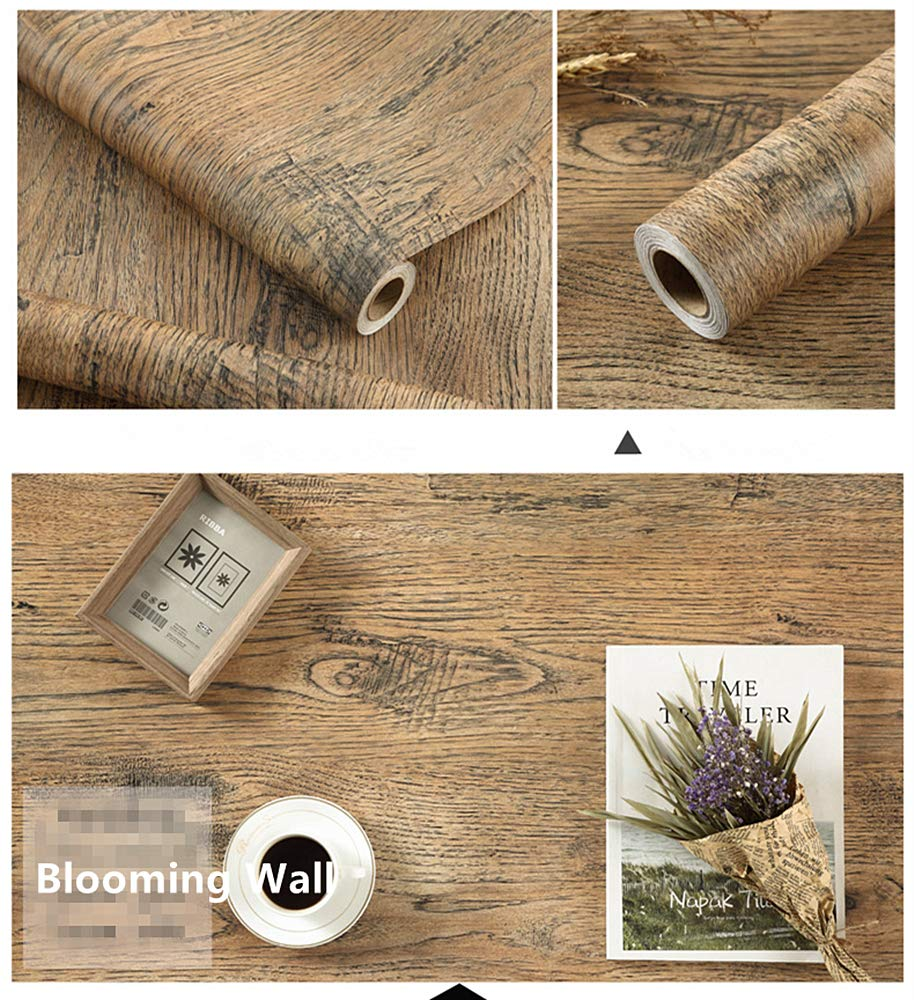 Blooming Wall Peel/&Stick Wood Panel Prepasted Wallpaper Wallcoverings for Wall,23.6in x 9.84ft Differme Company Limited HHM12