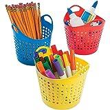 """Round Classroom Storage Baskets (12 Pack) 5 1/2"""" X 4""""."""