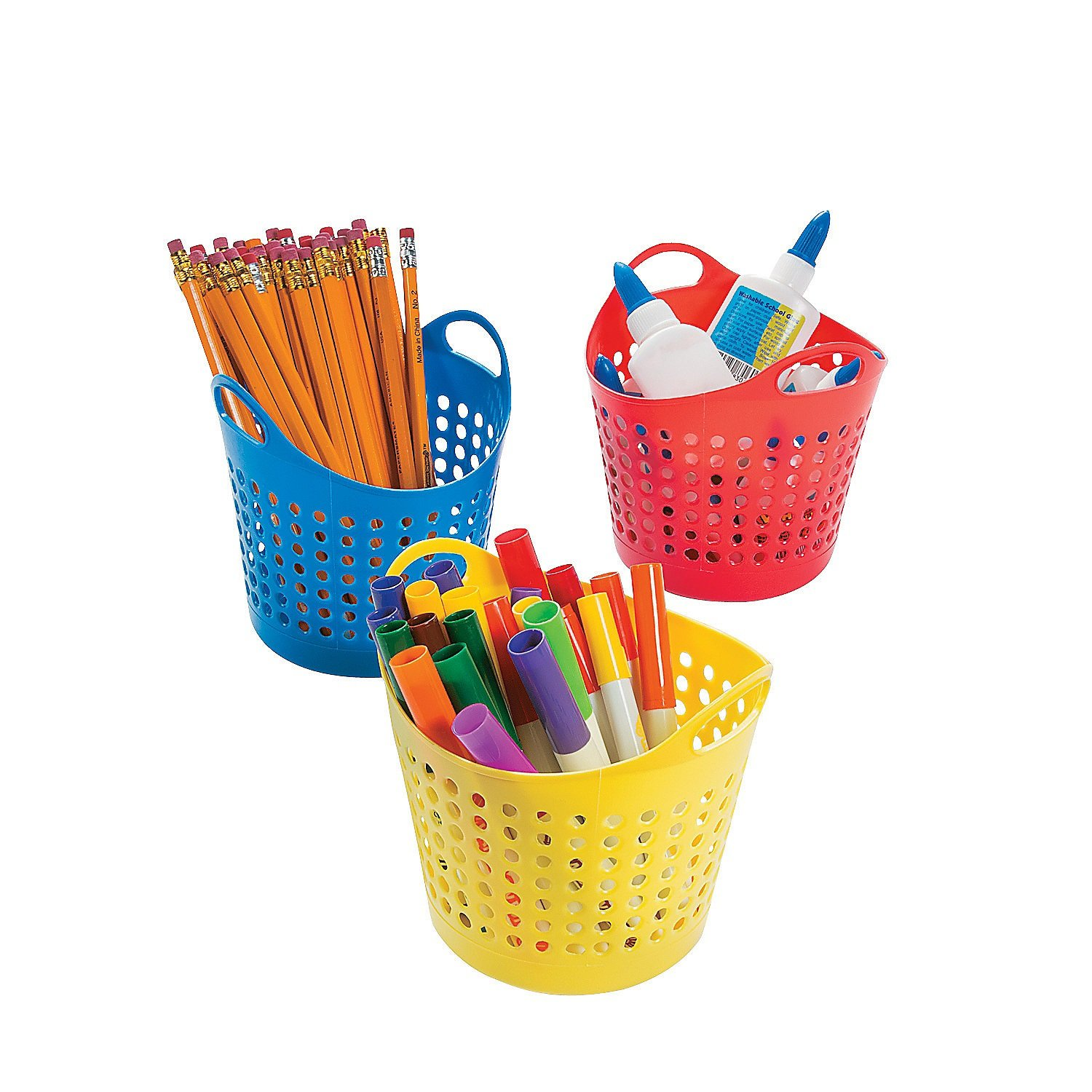 Round Classroom Storage Baskets (12 Pack) 5 1/2'' X 4''. by Fun Express