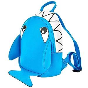Noahs Neoprene Animal Toddler Backpack (Shark - Mini)