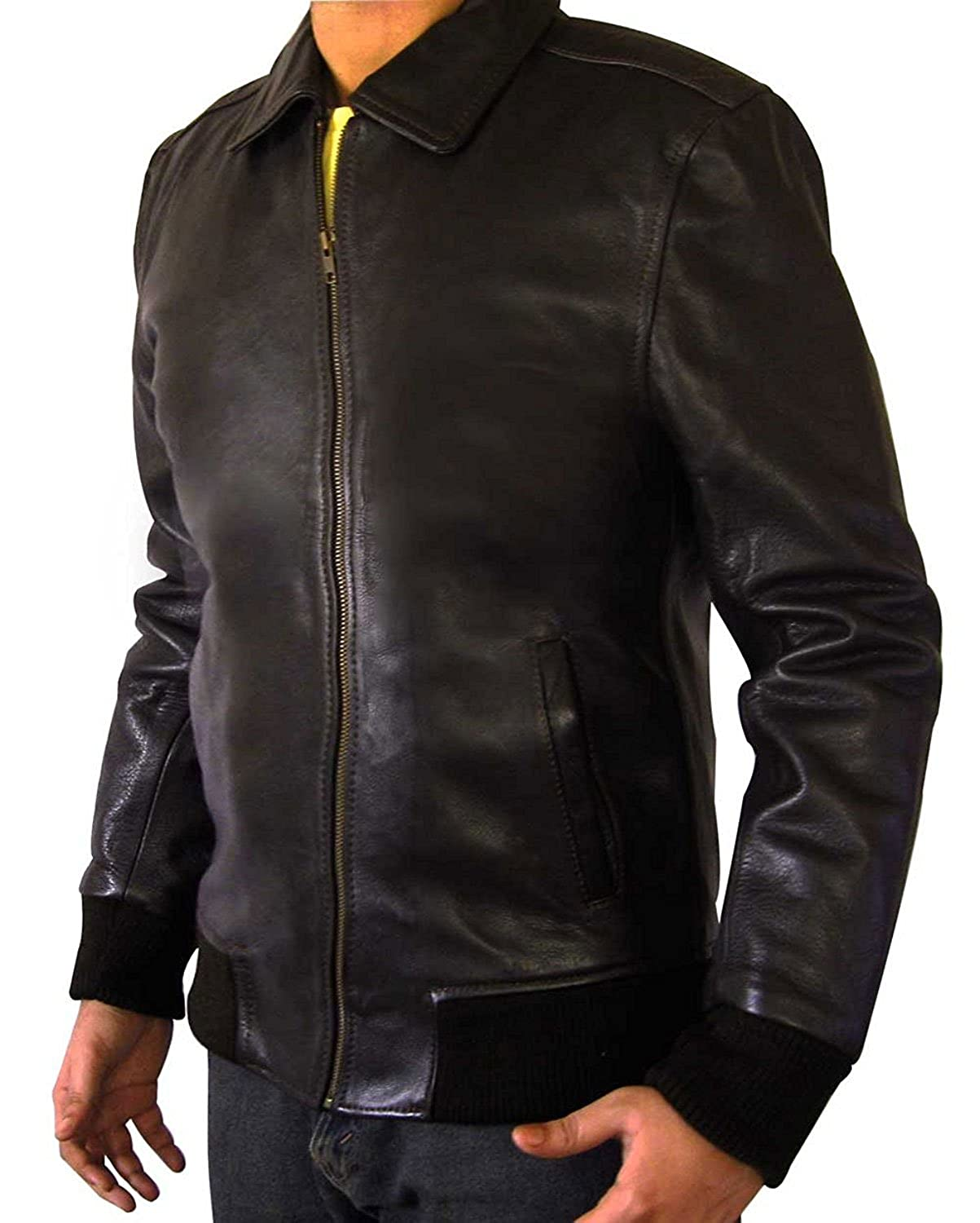 Fonzie Real Brown Leather Flight Jacket For Men At Amazon Men S
