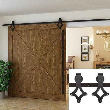 Amazon Barn Door Hardware Single Heavy Duty Sliding Barn Door
