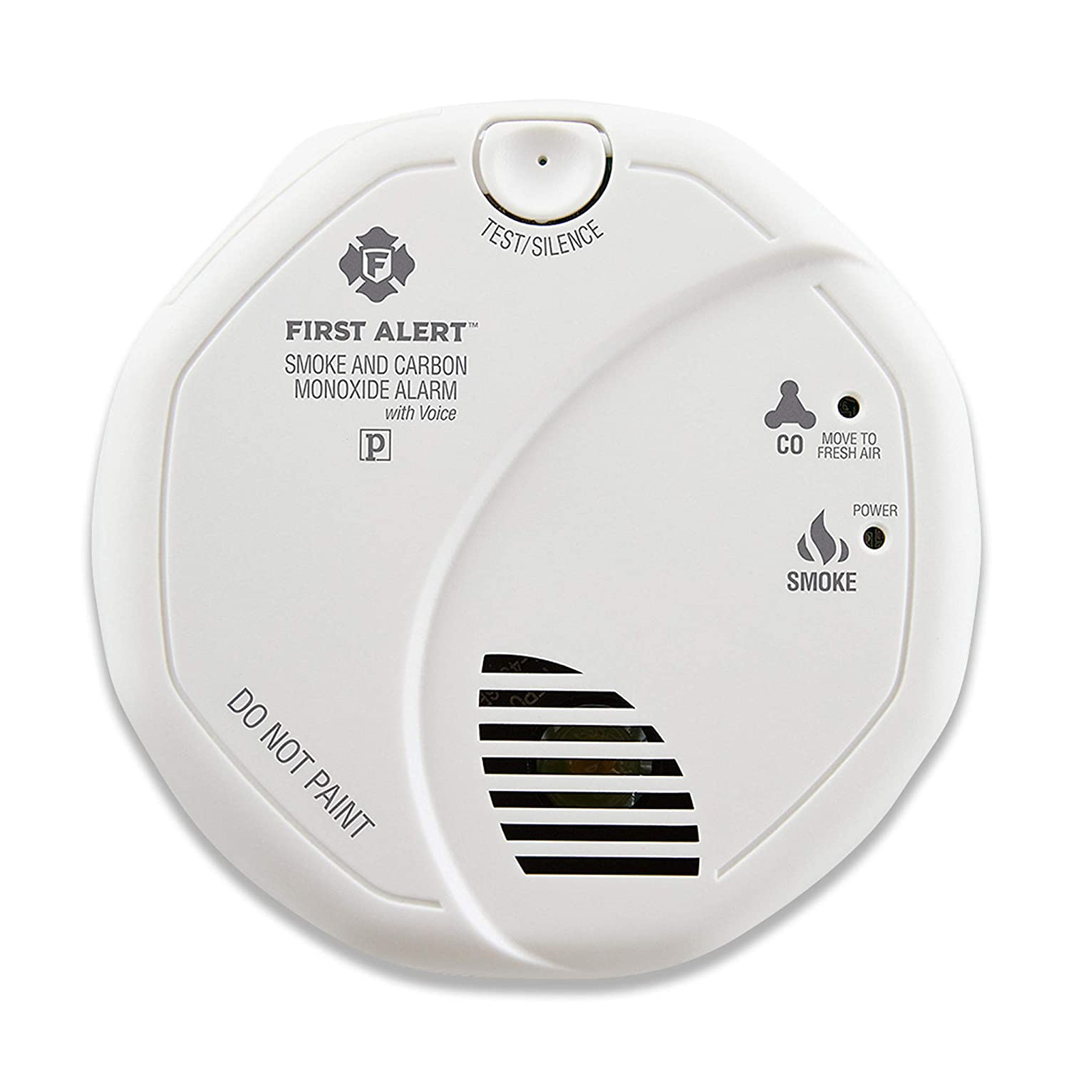 First Alert Combination Smoke and Carbon Monoxide Detector with Voice and Location, Battery Operated, SCO7CN