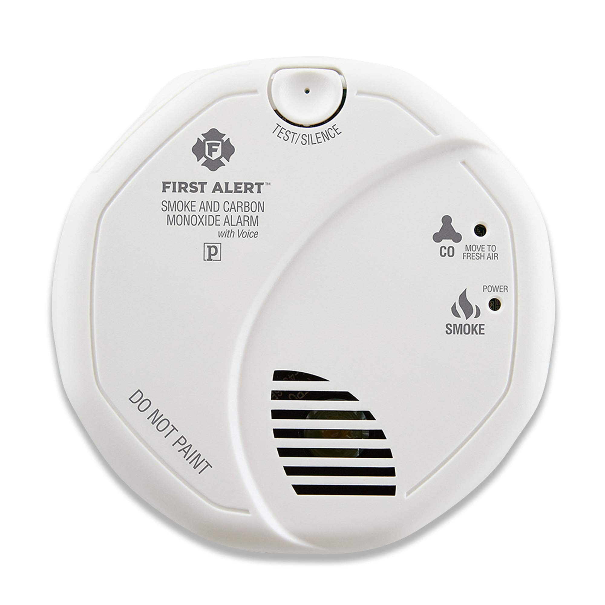 First Alert Combination Smoke and Carbon Monoxide Detector with Voice and Location, Battery Operated, SCO7CN by First Alert