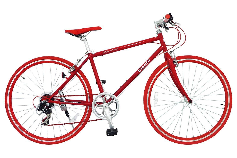 ANIMATO(アニマート) クロスバイク シマノ 7段変速 VIENTO(ヴィエント) 1年保証 B079MFD9B1 レッド レッド