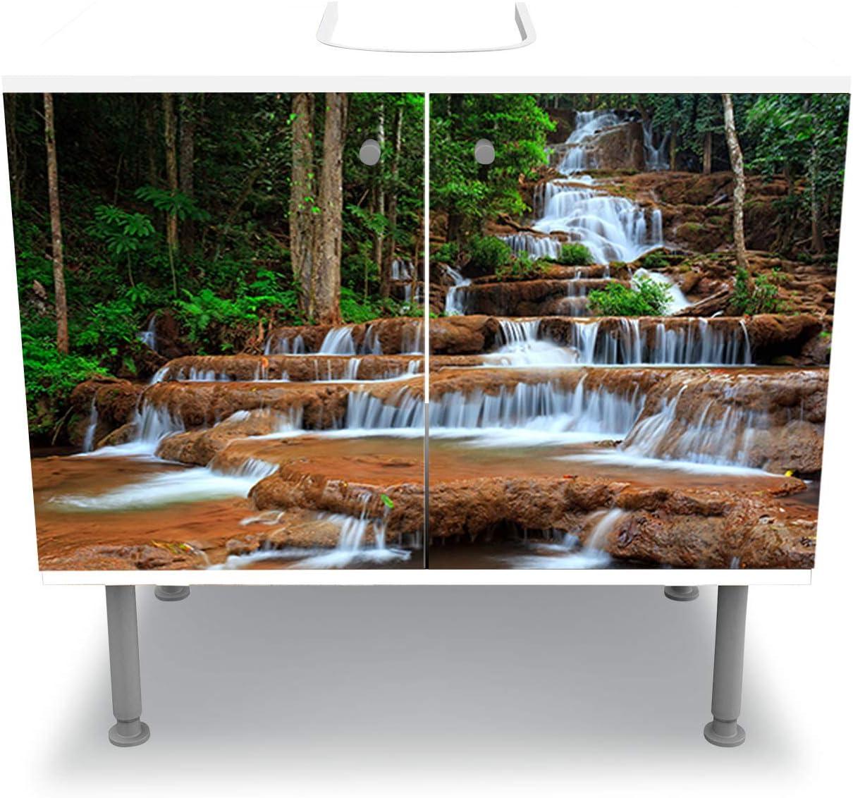 wandmotiv24 Mueble de baño Cascada en el Bosque. Tailandia Pegado ...