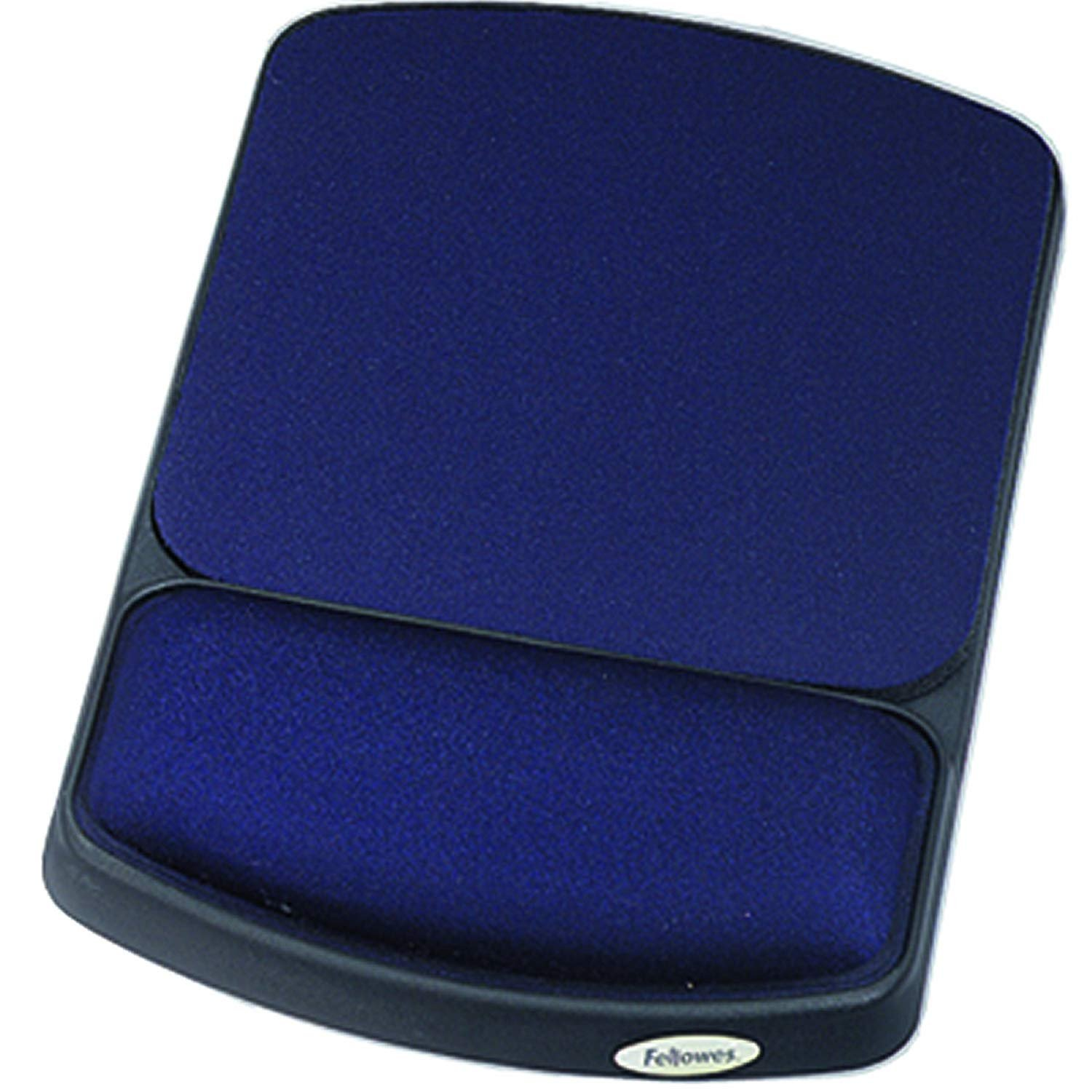 Fellowes Gel Wrist Rest and Mouse Rest, Sapphire/Black (98741) (2-Pack) by Fellowes
