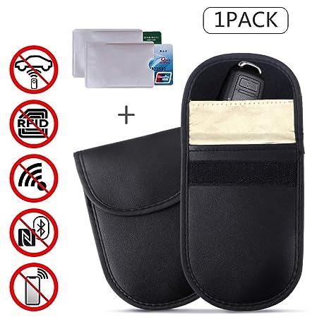RFID Signal Blocking Faraday Pouch Car Key Fob Entry Credit Card Holder Pocket