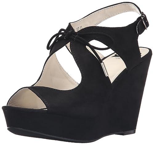 Fergalicious Women's Vicky Wedge Sandal, Black, ...