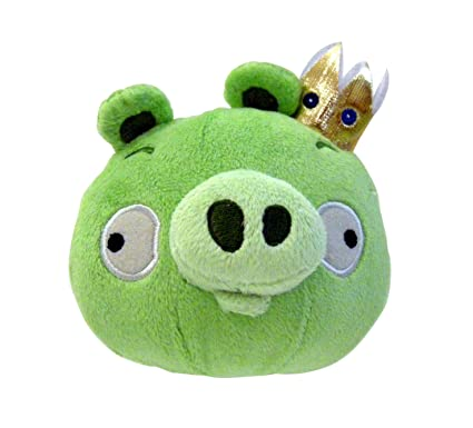 Amazon Com Angry Birds Plush 8 Inch King Pig With Sound Toys Games