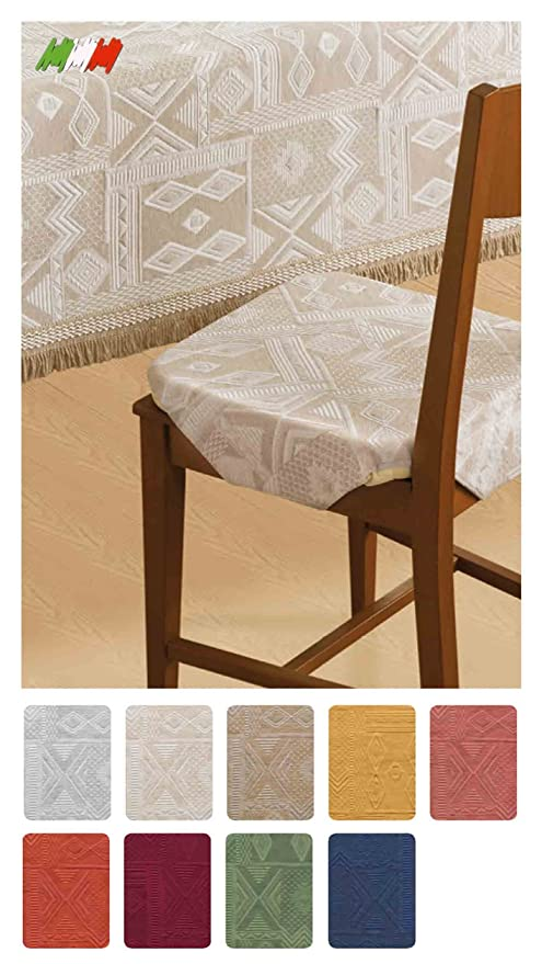 Come Fare Un Cuscino Per Sedia.Mexico Cuscino Coprisedia Cm 40x40 Con Alette Beige Amazon It