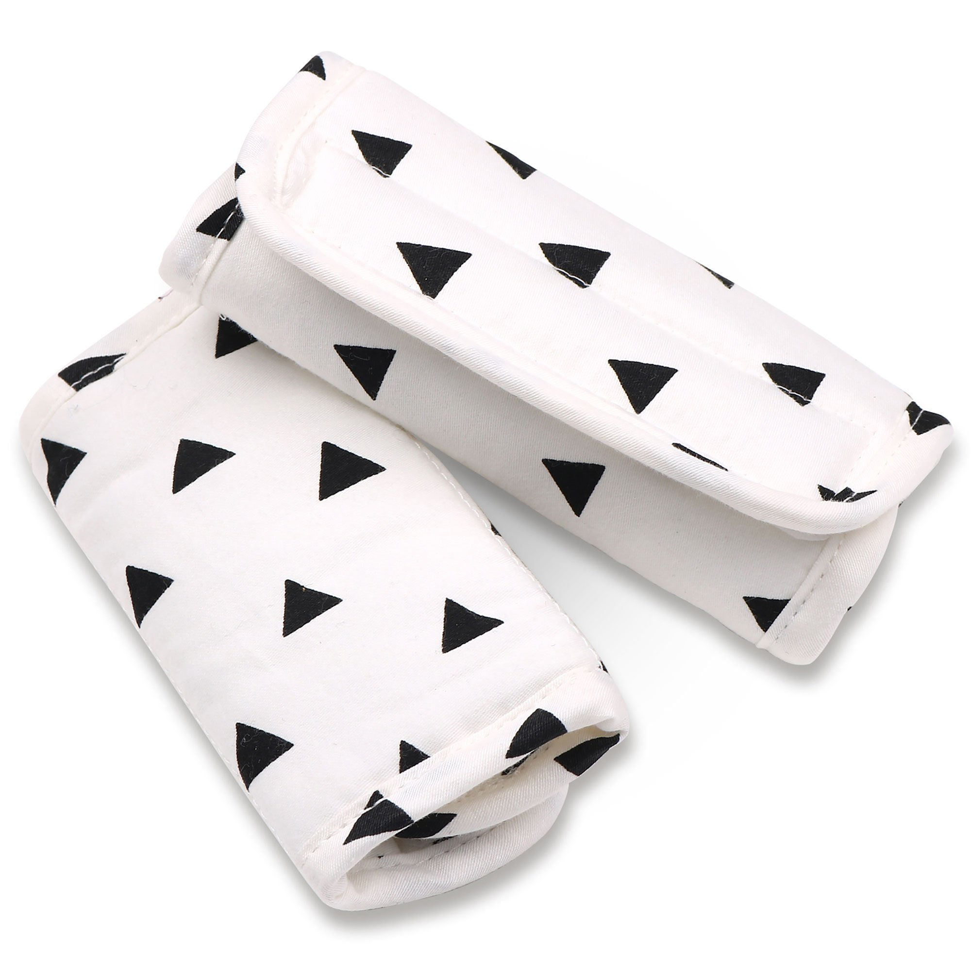 Black Triangle Car Seat and Stroller Strap Covers by The Peanut Shell by The Peanut Shell