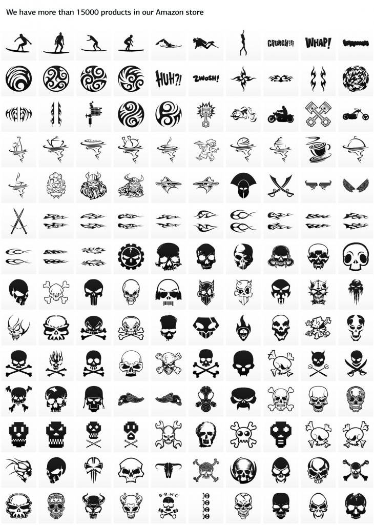 Sticker Tribal Tattoo Style Decoration Bike Motorbike Bicycl White (6 X 2.52 Inches)