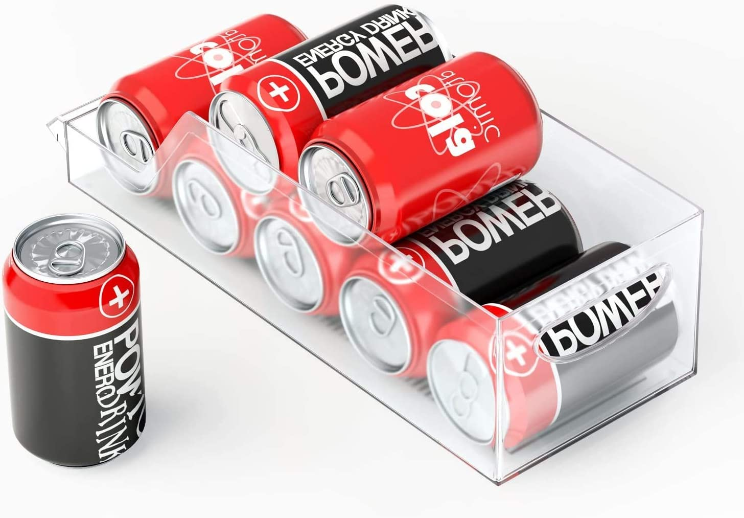 M-Better Fridge Storage Box Freezer Food Storage Box, [BPA-Free] Plastic Refrigerator Organizer Bins Squeeze for Kitchen Pantry, Cabinet, Refrigerator, Freezer