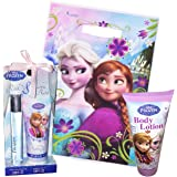 Disney Frozen Bath Set Bundle of 3 - Mini Gift Bag, Body Lotion, Perfume and Bubble Bath Set