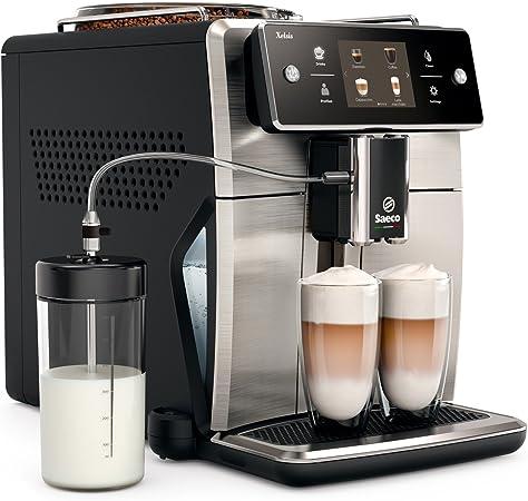 Saeco sm7683/00 Xelsis – Cafetera automática, innovadora pantalla táctil, acero inoxidable/negro: Amazon.es: Hogar