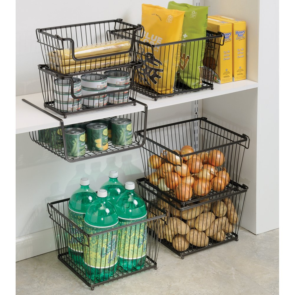 Delightful Amazon.com: InterDesign York Lyra Kitchen Pantry Under Shelf Organizer  Basket, Bronze: Home U0026 Kitchen
