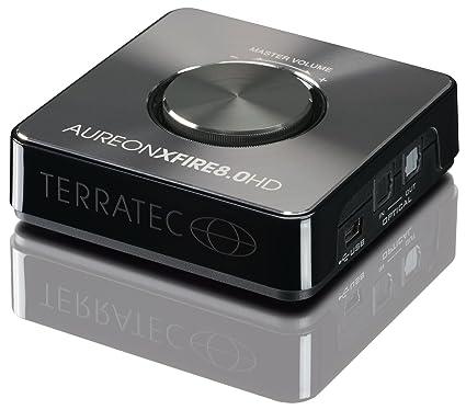 Terratec Aureon XFire - Tarjeta de Sonido Externa (Control de Volumen, USB, 3.5 mm), Negro
