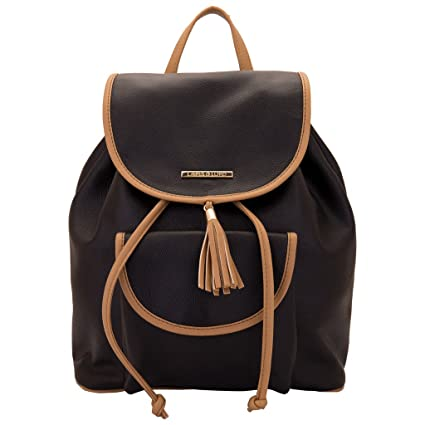 Buy Lapis O Lupo Women s Backpack Handbag (Black, Llbp0004Bk) Online at Low  Prices in India - Amazon.in d2a4f66975