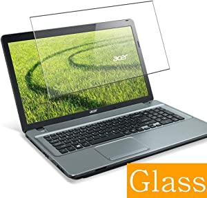 """Synvy Tempered Glass Screen Protector for Acer Aspire E1-731 / E1-731g / E1-732 / E1-732g 17.3"""" Visible Area 9H Protective Screen Film Protectors (Not Full Coverage)"""