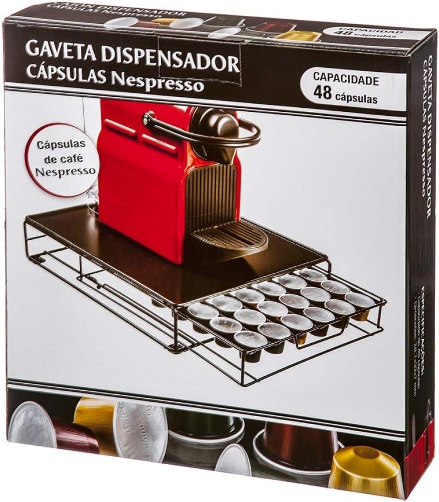 cafeti/ère etc. Home Gadgets Distributeur /à tiroir avec Support pour 48 Capsules Cafeti/ère Nespresso Krups