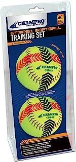Champro rayé d'entraînement Ensemble de Softball (Optic Jaune, 30,5cm) 5cm) CSB52S