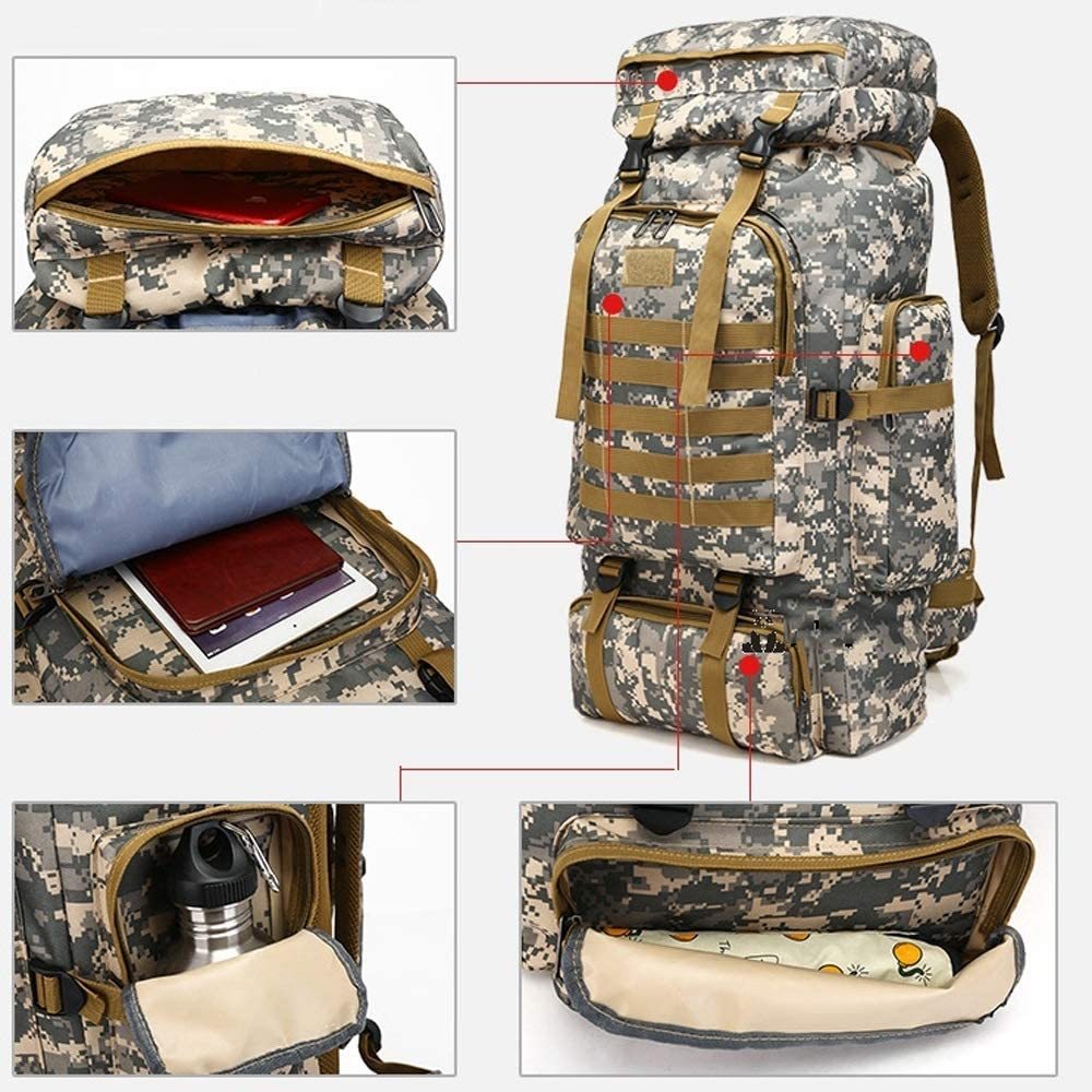 Hiking Knapsack Travel Mountaineering Bag Shubiao 80L Super Oxford Cloth Backpack Multi-Function Rucksack