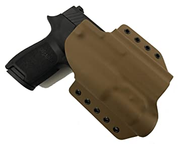 MIE Productions Kydex OWB Holsters: Sig P320 Compact with TLR-1, TLR-3,  TLR-7, TLR-8, APLc, PL-Mini, PL-Mini 2, PL-2