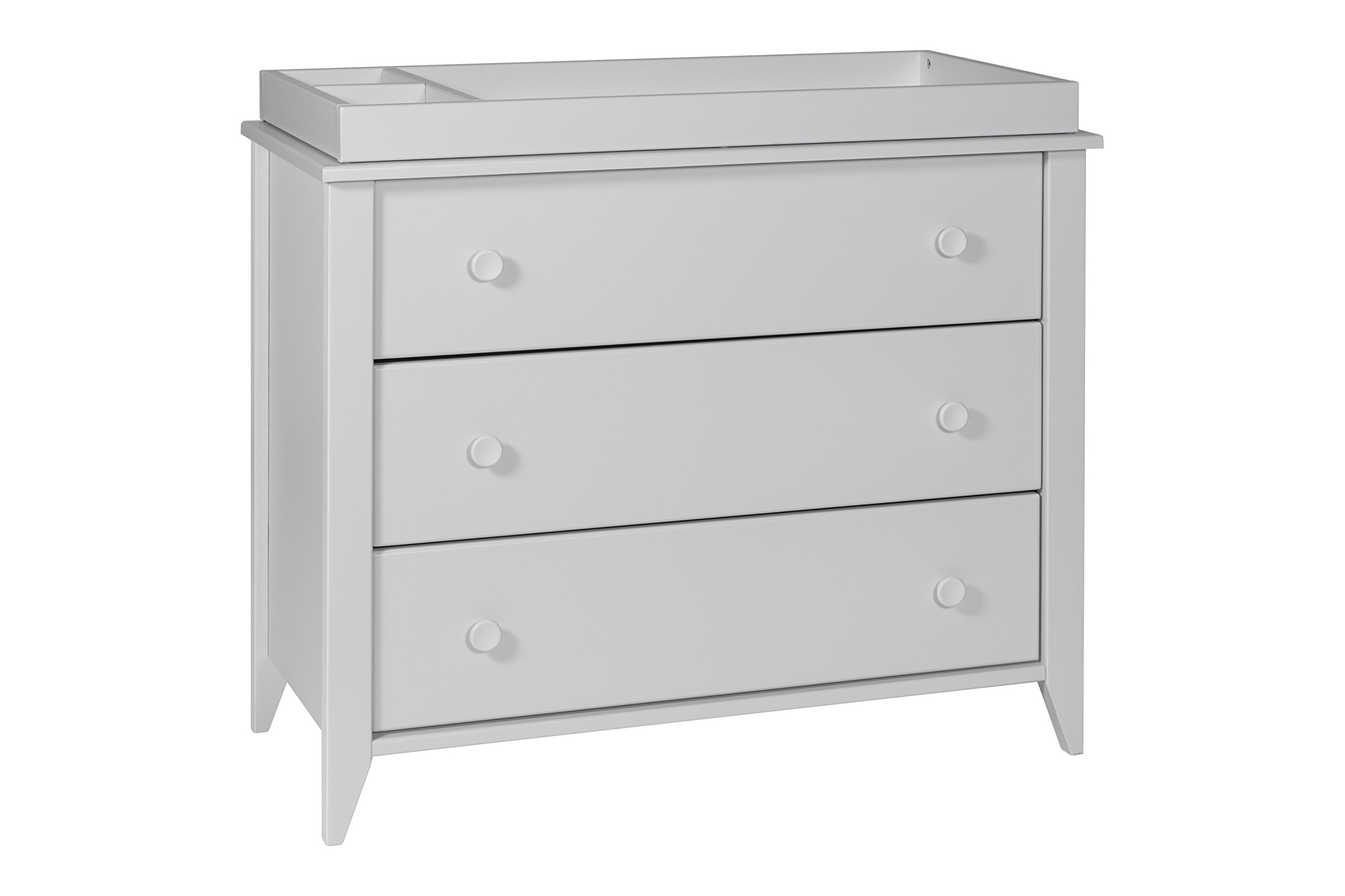 Babyletto Sprout 3-Drawer Changer Dresser with Removable Changing Tray, Light Grey
