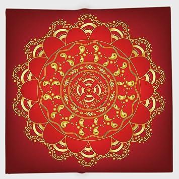 25fb4f54f205 Amazon.com : iPrint Polyester Bandana Headband Scarves Headwrap, Red ...