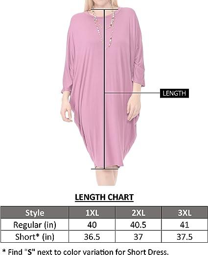 Women's Side Draped Dolman Sleeves Plus Dress