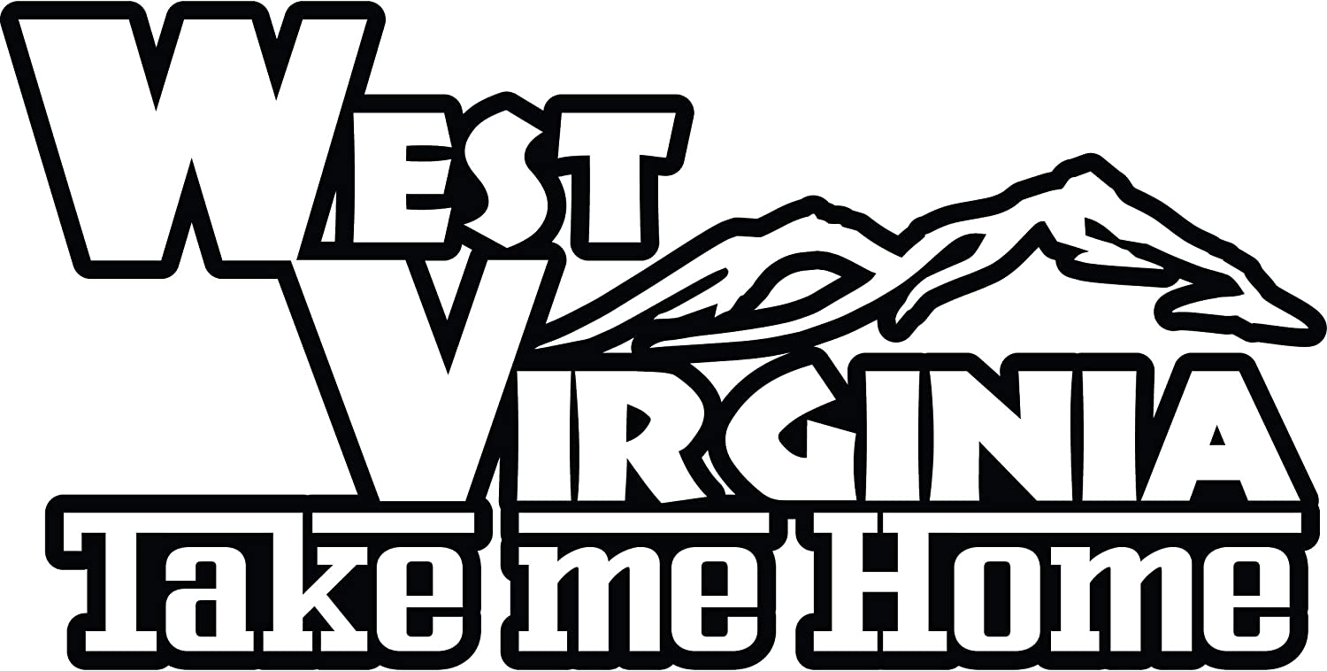 4 All Times West Virginia Take Me Home Automotive Car Decal for Cars, Trucks, Laptops (8.0 W x 4.1 H)