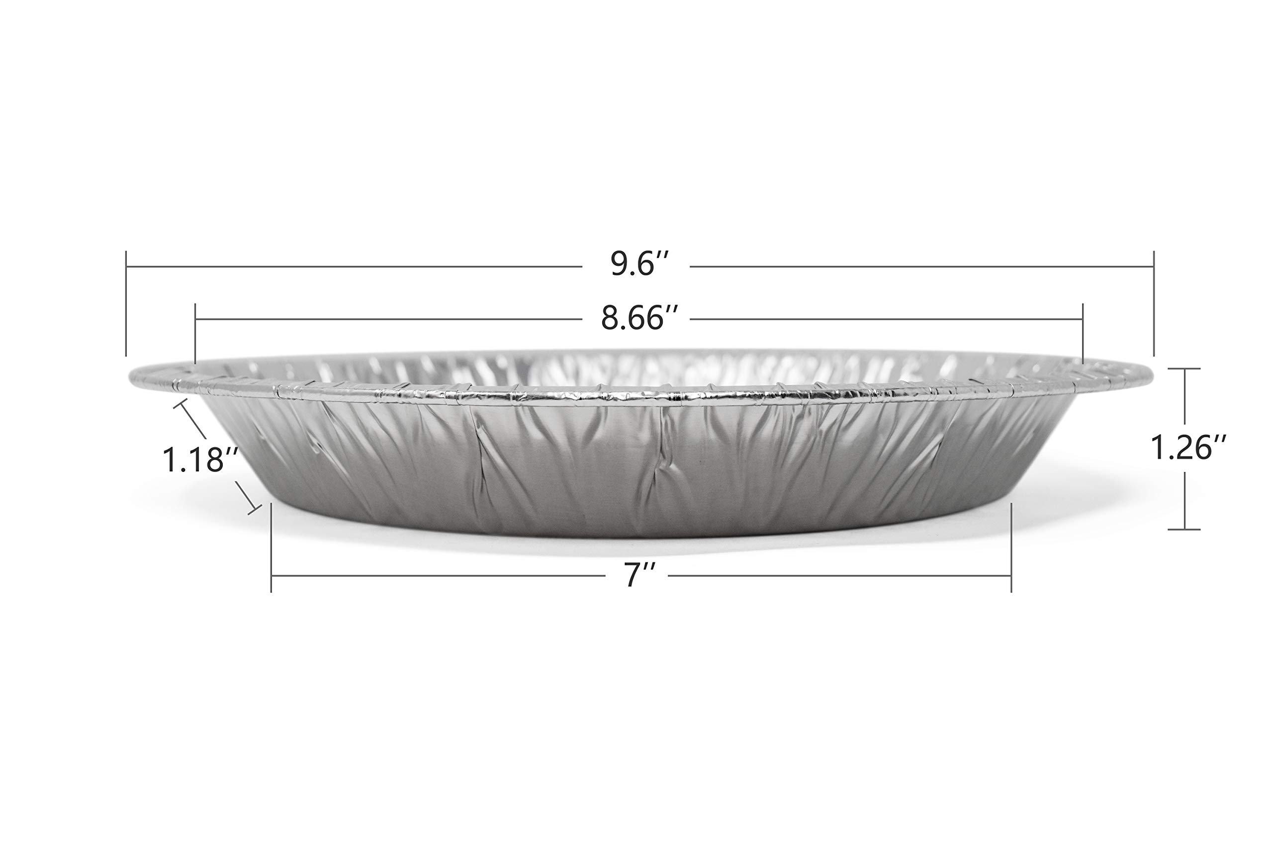 Fig & Leaf (120 Pack) Premium 9-Inch Pie Pans l 36 Gauge l Disposable Tart Pan Tin Plates Aluminum Foil for Baking Quiche by Fig & Leaf (Image #2)