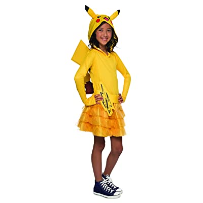 Rubie\'s Pokémon Pikachu Child Hooded Costume Dress, Large: Toys & Games [5Bkhe1102725]