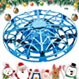 AMERTEER Mini Drone for Kids Adults, Flying Ball Hand Controlled Quadcopter Light Up Flying Toys, UFO Flying Ball Drone Toys with 360°Rotating Helicopter Outdoor Toys Holiday Birthday Gifts (blue)