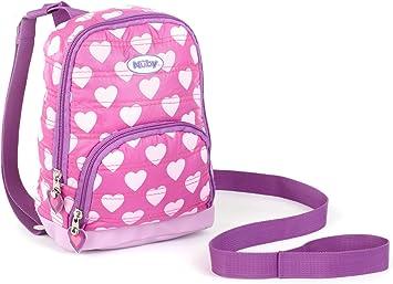 Nuby 2 en 1 acolchado arnés mochila acolchada, corazones, rosa ...