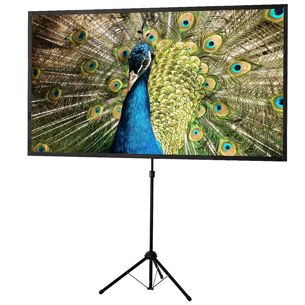 celexon 80'' Tripod Projector Screen Ultra Lightweight, 4:3 format, 11 lbs weight, Projector Screen Size: 64'' x 48''