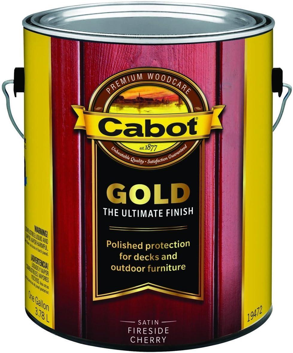 Cabot Satin 19472 Fireside Cherry Deck Varnish 1 gal.