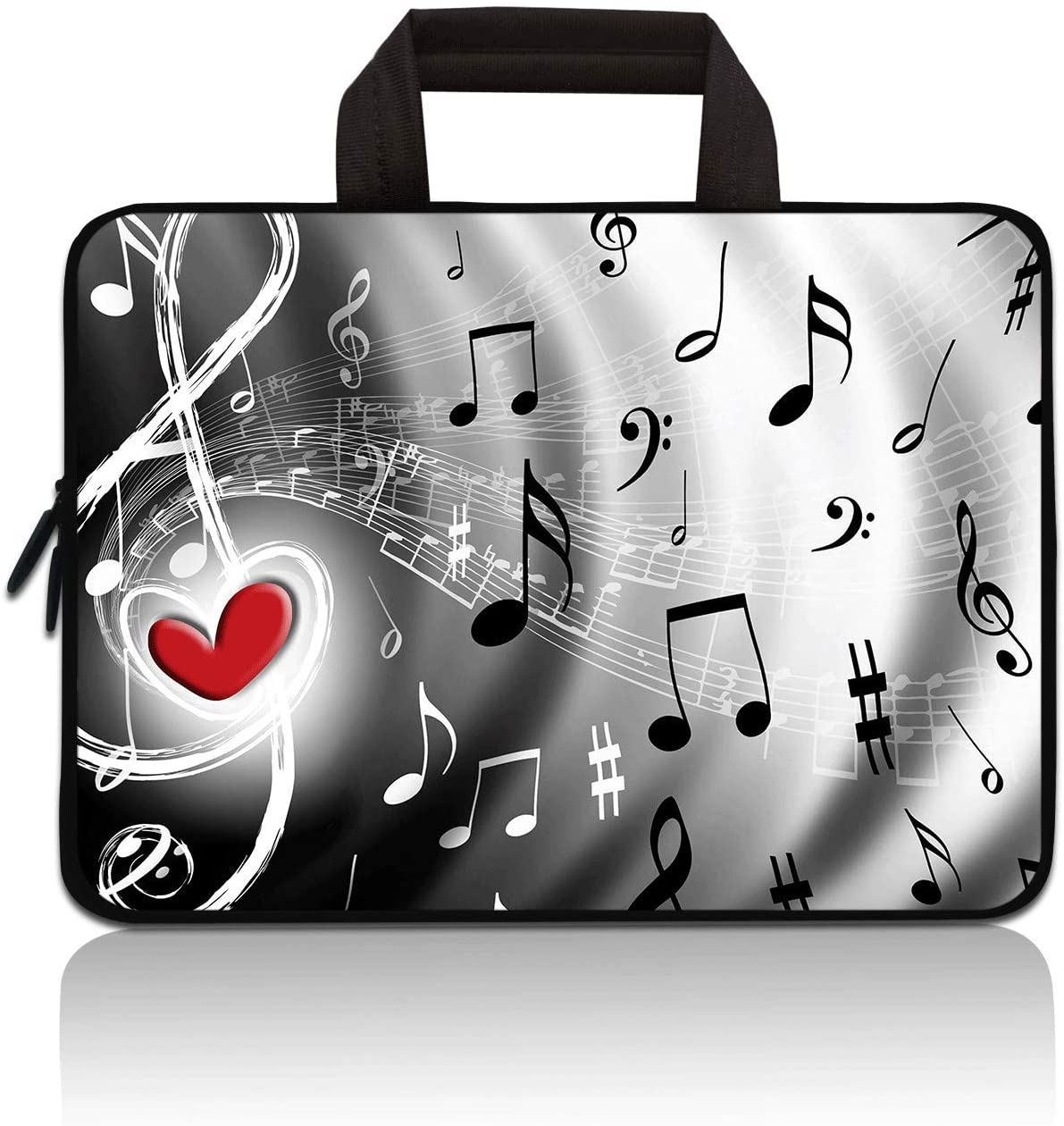 HYUTOTA 11 11.6 12 12.1 12.5 inch Laptop Carrying Bag Chromebook Case Notebook Ultrabook Bag Tablet Cover Neoprene Sleeve Fit Apple MacBook Air Samsung Google Acer HP DELL Lenovo Asus(Musical Note)