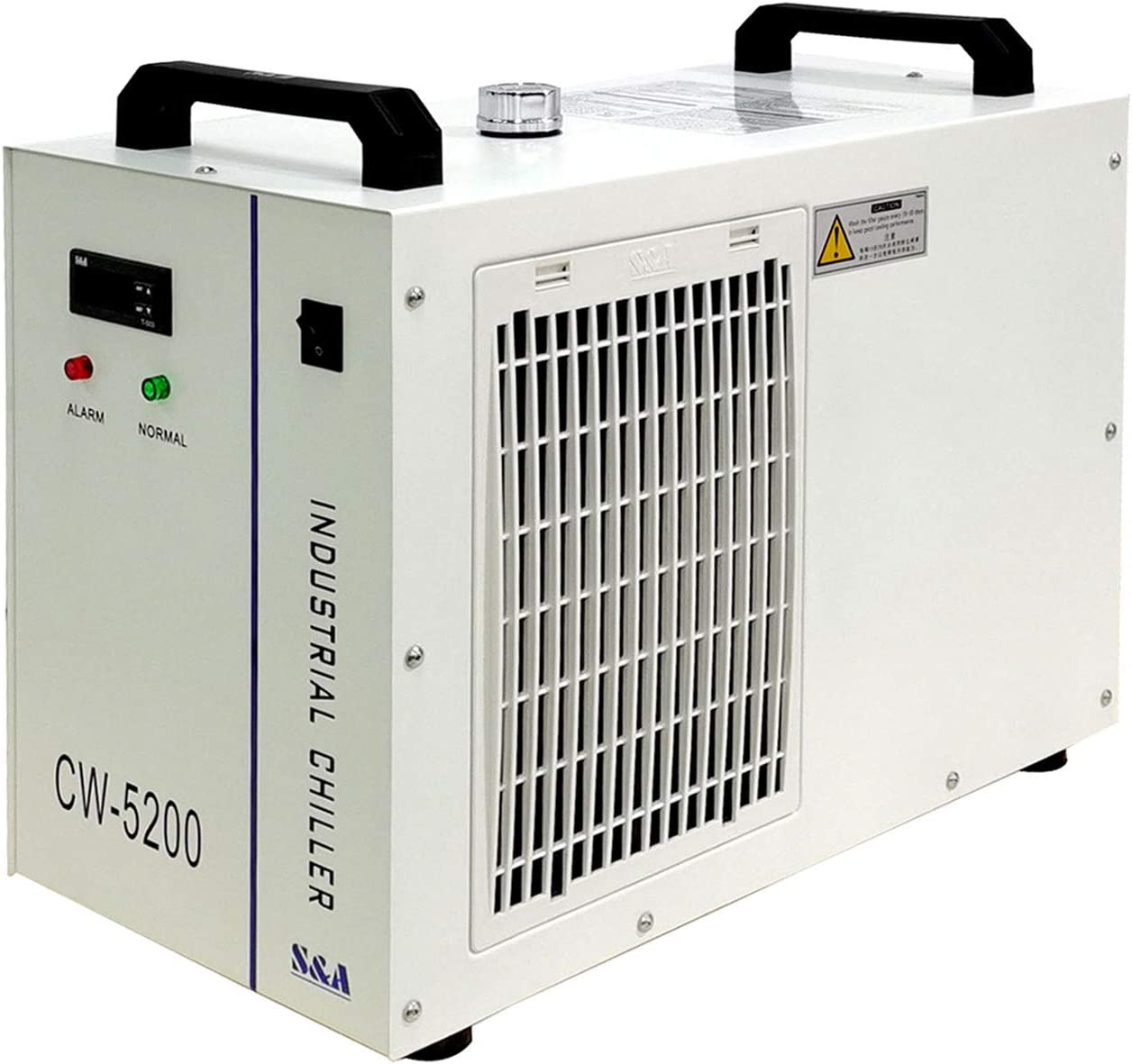 S&A Genuine CW-5200DH (Upgraded 5200DG) Water Chiller Duty Free for CO2 Laser Engraving Cutting Water Cooling